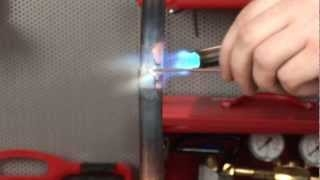 Copper pipe brazing