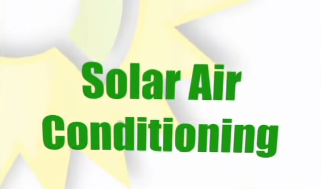 Solar air conditioning - how it works?