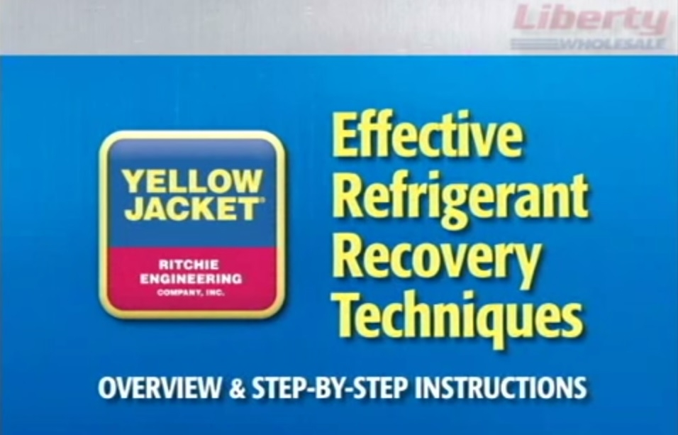 Yellow jacket - refrigerant recovery training