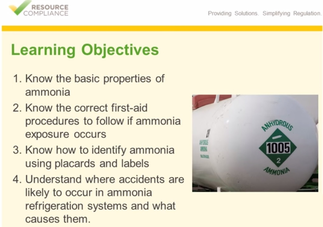 Ammonia safety & identification