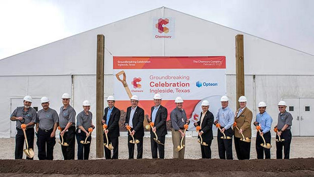 Chemours breaks ground on 1234yf facility
