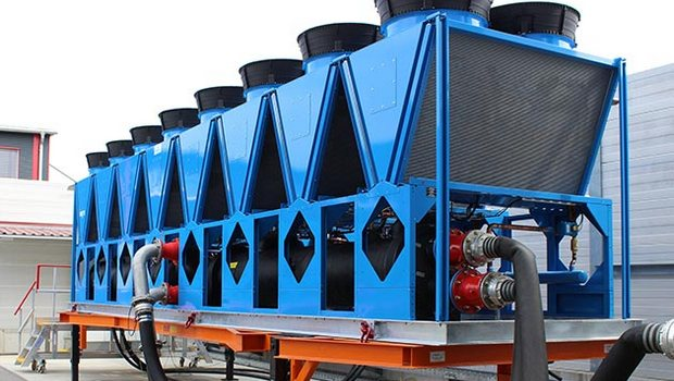 Heat recovery on air-cooled Engie chillers