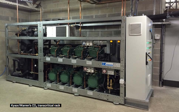 Kysor/Warren's CO2 transcritical rack