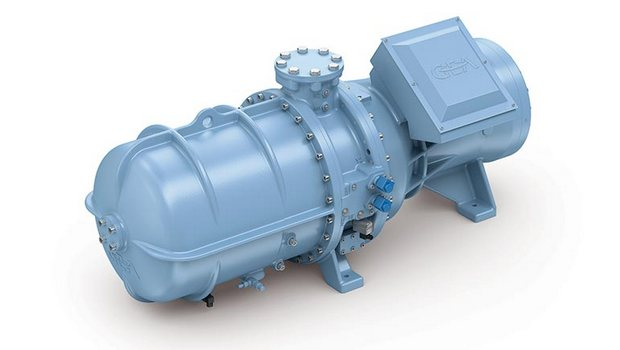Semi-hermetic NH3 screw compressor